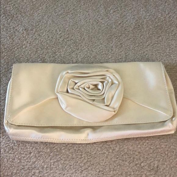J. Crew Handbags - J. Crew ivory rose magnetic clutch